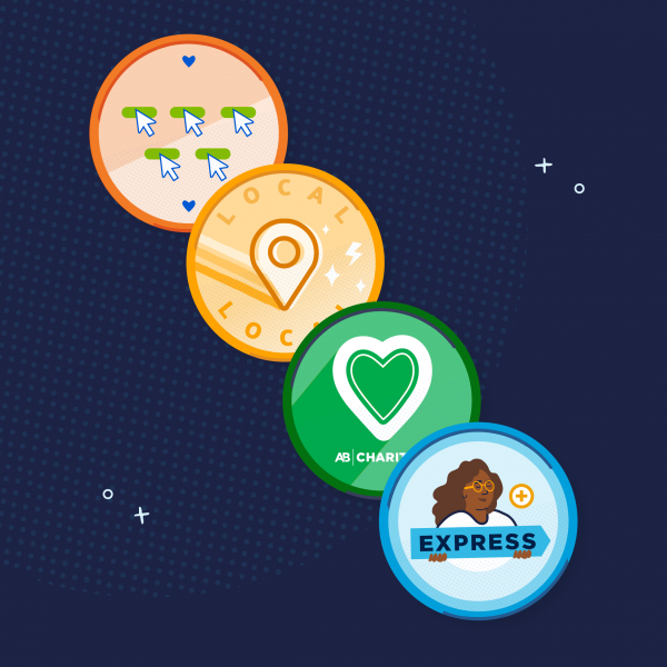 Earn Donor Badges When You Give!
